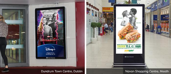 Adshel Live Malls Dundrum & Navan